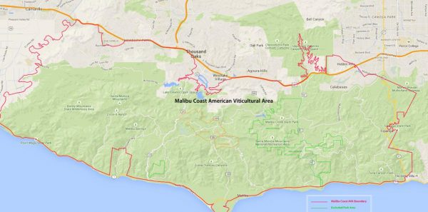 Malibu Coast AVA Map