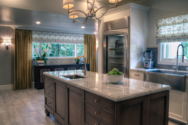 Vonk put his decades worth of design expertise to good use when selecting Ferguson's high-end appliances, faucets, fixtures and decorative lighting for the home.
